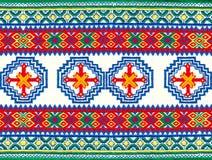 Mordovian nationaal borduurwerk stock afbeeldingen