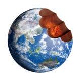 Mordre la terre illustration libre de droits