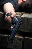 Mordujący mężczyzna z pistoletem Obrazy Stock
