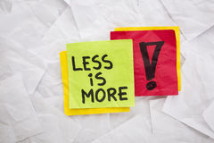 Less is more advice Stock Photography
