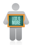 less is more avatar sign concept Stock Image