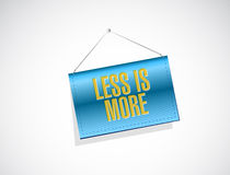 less is more banner sign concept Stock Image