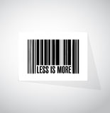Less is more bar code sign concept Royalty Free Stock Photo