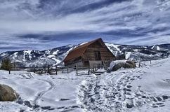 The More Barn in HDR Royalty Free Stock Photo