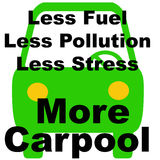 Less is more carpool Stock Images