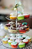 More color cupcake Royalty Free Stock Images