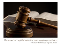 The more corrupt the state... Stock Images