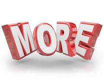 More 3D Word Increase Improve Larger Bigger Demand Royalty Free Stock Images