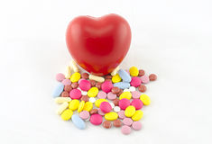 More drugs damage the heart. Healty Royalty Free Stock Photos