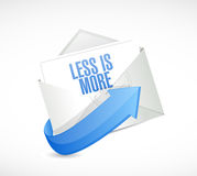 less is more email sign concept stock illustration