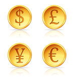 More Gold Coins Royalty Free Stock Photos