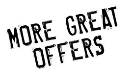 More Great Offers rubber stamp Stock Image