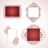 More Henna Frames. Detailed henna surrounds frames for text or images Royalty Free Stock Image