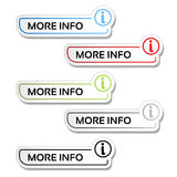 More info buttons with symbol of i - labels, stickers on the white background. Illustration Royalty Free Stock Image