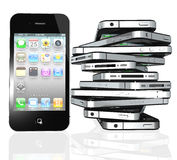 More iPhone 4s screen home apps. The latest generation iPhone 4s, highly popular around the world Stock Photography