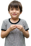 More kid hand sign language Stock Photo