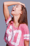 More laugh longer life. Royalty Free Stock Photo