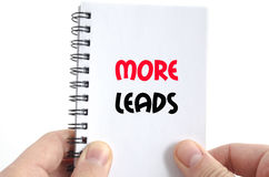 More leads text concept Stock Photos