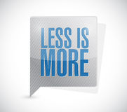 Less is more message sign illustration Royalty Free Stock Photography