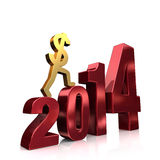 More Money In 2014 Royalty Free Stock Photos
