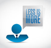 Less is more people message sign concept Stock Photo