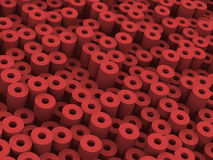 More red tubes. A lot red soft tubes Stock Photography