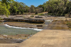 More of Rocky Creek. The water flows along Rocky Creek near Oakalla, Texas Royalty Free Stock Photography