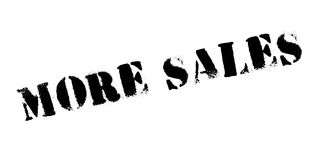 More Sales rubber stamp Royalty Free Stock Images