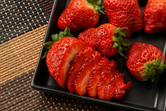More sliced strawberries Royalty Free Stock Photography
