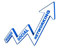 Rising social networking Stock Image