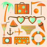 More summer vector icons. Stock Images