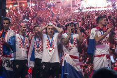 Croatian team coming home after final FIFA 2018 World Cup Stock Photography