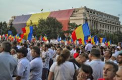 The PSD miting in Bucharest, hundreds of thousands of people in the street Royalty Free Stock Photos