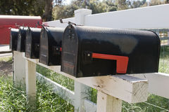 More than One Mailbox Royalty Free Stock Photos