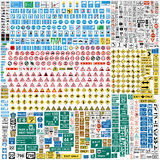 More Than Six Hundred European Traffic Signs Royalty Free Stock Photography