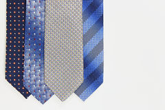 More ties on white. Some colorful neckties on a white background Royalty Free Stock Photography