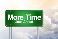More Time, Just Ahead Green Road Sign Royalty Free Stock Image