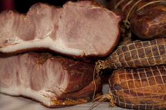More types of traditionally smoked meat royalty free stock image