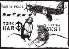 More war, rats - hand drawn vector Royalty Free Stock Image