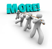 More Word Team Pulling Increase Improve Results Royalty Free Stock Image