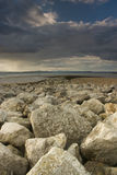 Morecambe Bay. Evening on the beach in Morecambe Bay Royalty Free Stock Photography