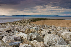 Morecambe Bay. Evening on the beach in Morecambe Bay Royalty Free Stock Photos
