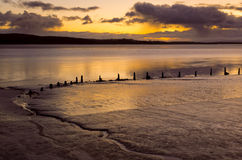 Morecambe Bay dawn Royalty Free Stock Image