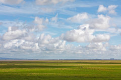 Morecambe Bay plain landscape Royalty Free Stock Image