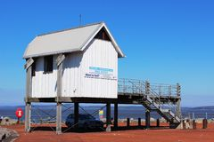 Morecambe & Heysham yacht club office hut Morecambe Royalty Free Stock Photos