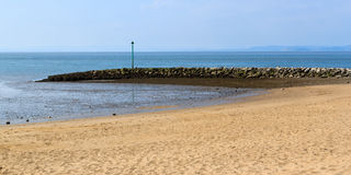 Morecambe Lancashire England. Sea front and beach at Morecambe Lancashire England UK Europe Royalty Free Stock Photo