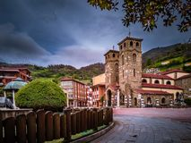Moreda de Aller Asturien stockfotografie