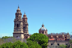 Morelia Cathedral. Historic cathedral in Morelia, Mexico Royalty Free Stock Photo