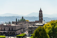 Morelia town square. Morelia Michoacan, Mexico Town square Royalty Free Stock Photography