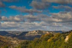 Morella är en stad Arkivfoto
